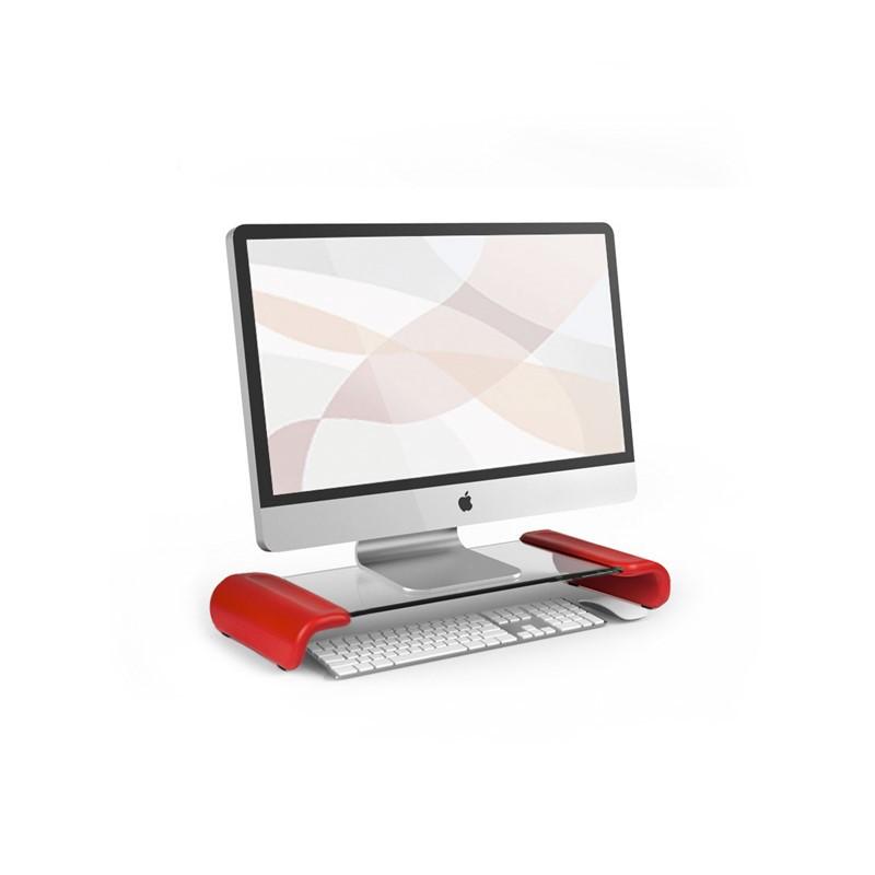 韩国原产aplum 时尚透明电脑置物桌置物柜收纳桌 红色