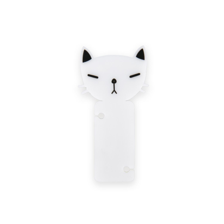韩国原产CHERRYCAT 可爱猫咪耳机绕线器理线器固线器 黑白