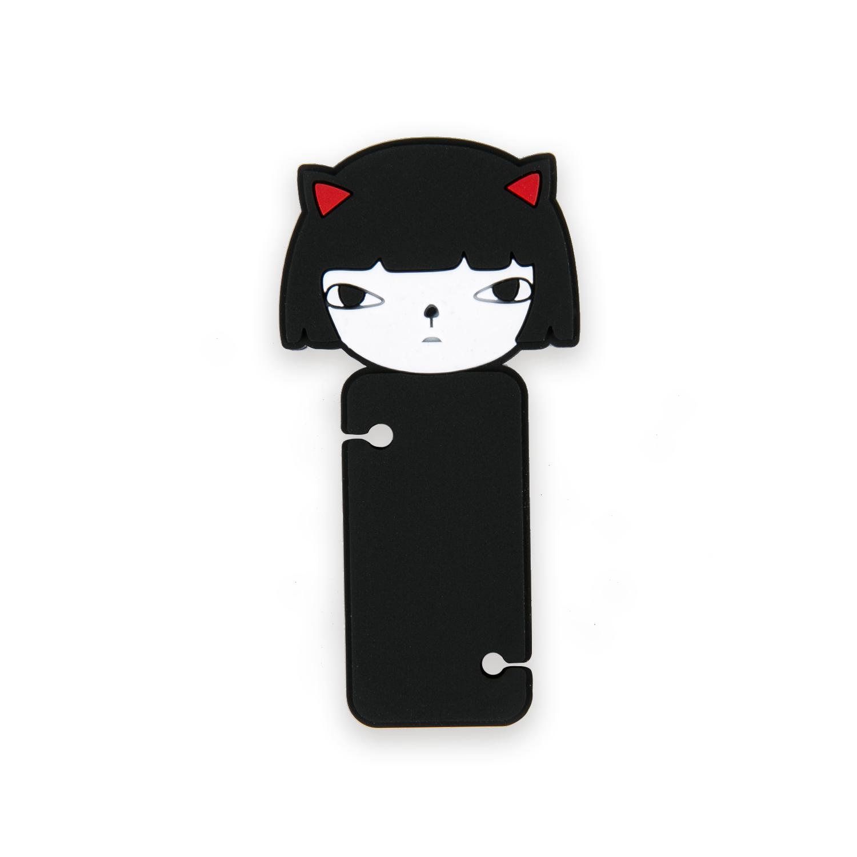 韩国原产CHERRYCAT 留头发的猫咪耳机绕线器理线器固线器 黑色,白色,红色