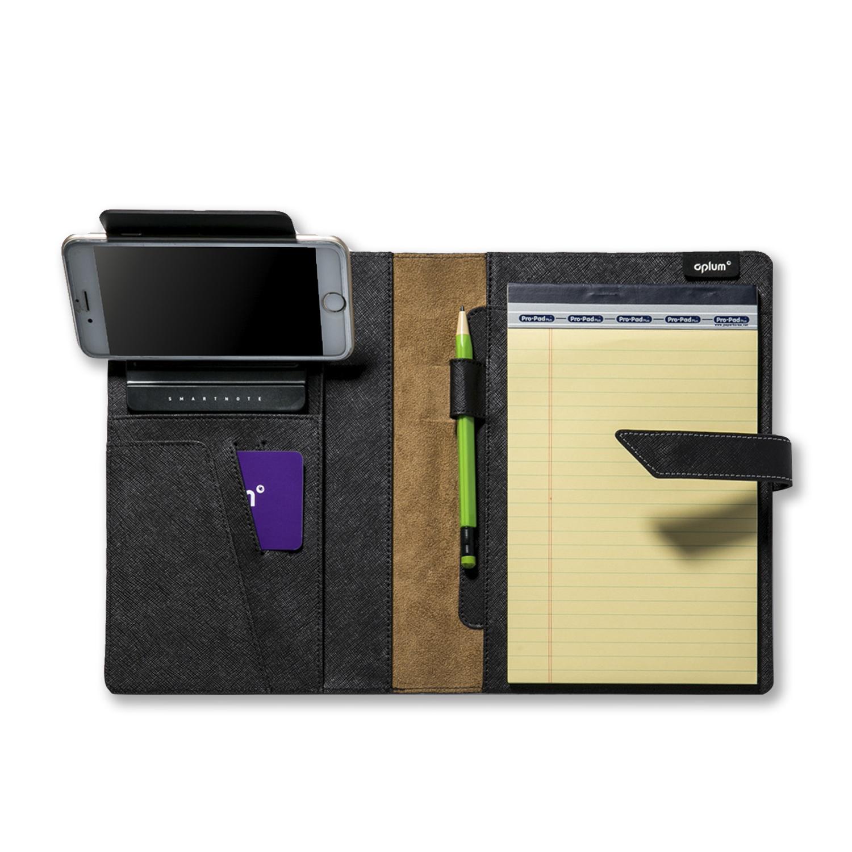 韩国原产aplum多功能智能真皮笔记本笔手机支架三合一 棕色