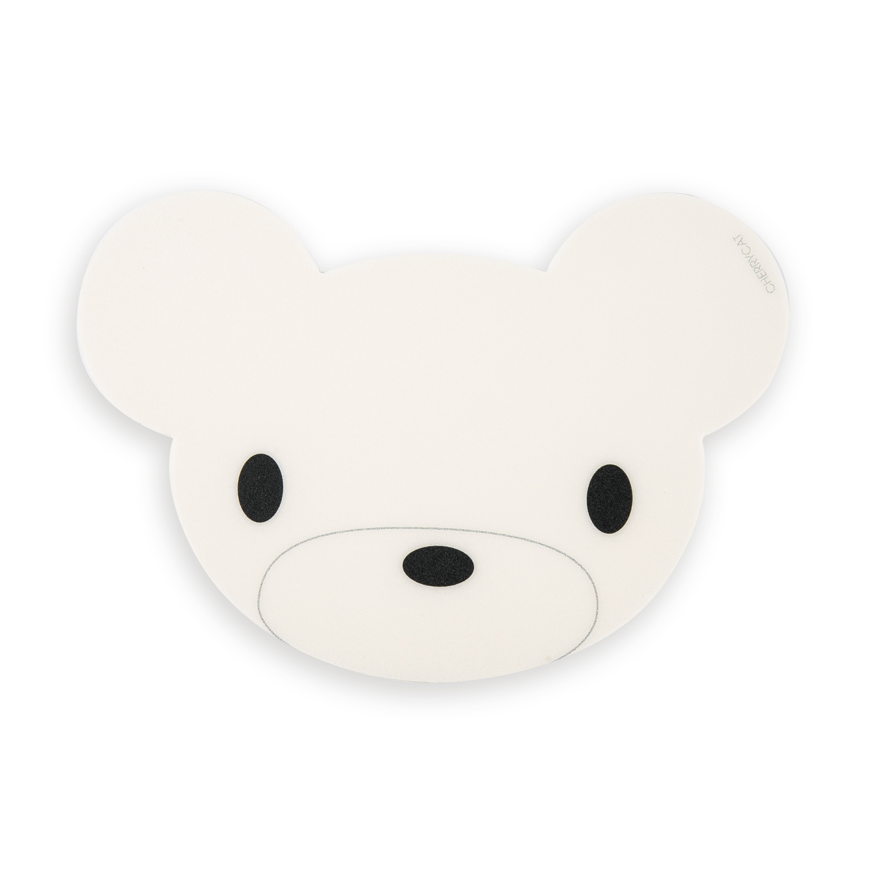 韩国原产CHERRYCAT个性时尚鼠标垫mini版可爱小熊 白色