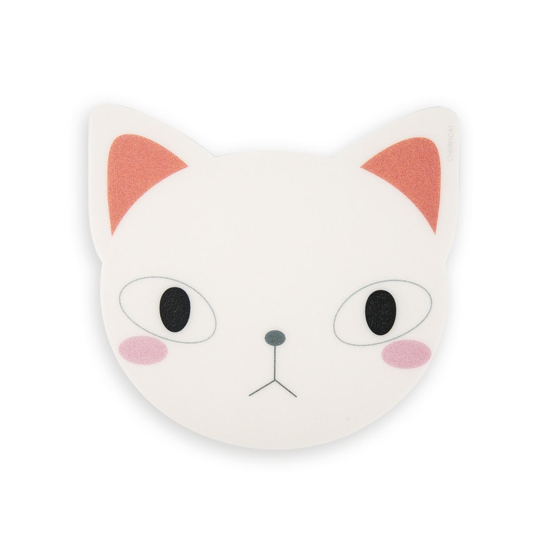 韩国原产CHERRYCAT 可爱猫咪卡通鼠标垫个性鼠标垫伤心版 白色