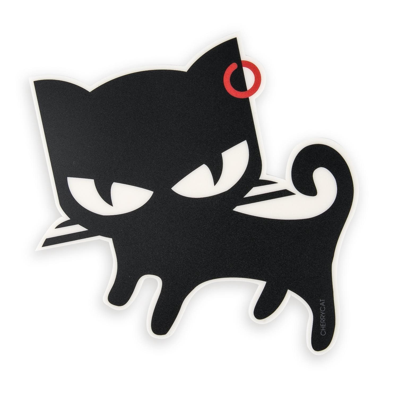 韩国原产CHERRYCAT 行走的猫咪个性可爱鼠标垫mini版 黑色