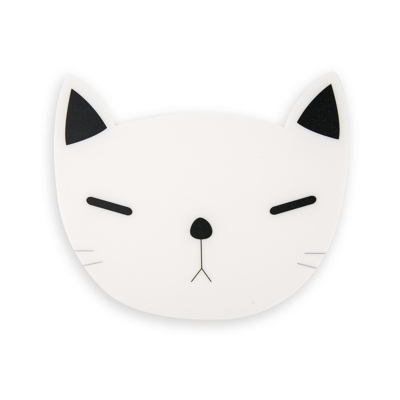 韩国原产CHERRYCAT 可爱猫咪黑色耳朵个性鼠标垫生气版 黑白