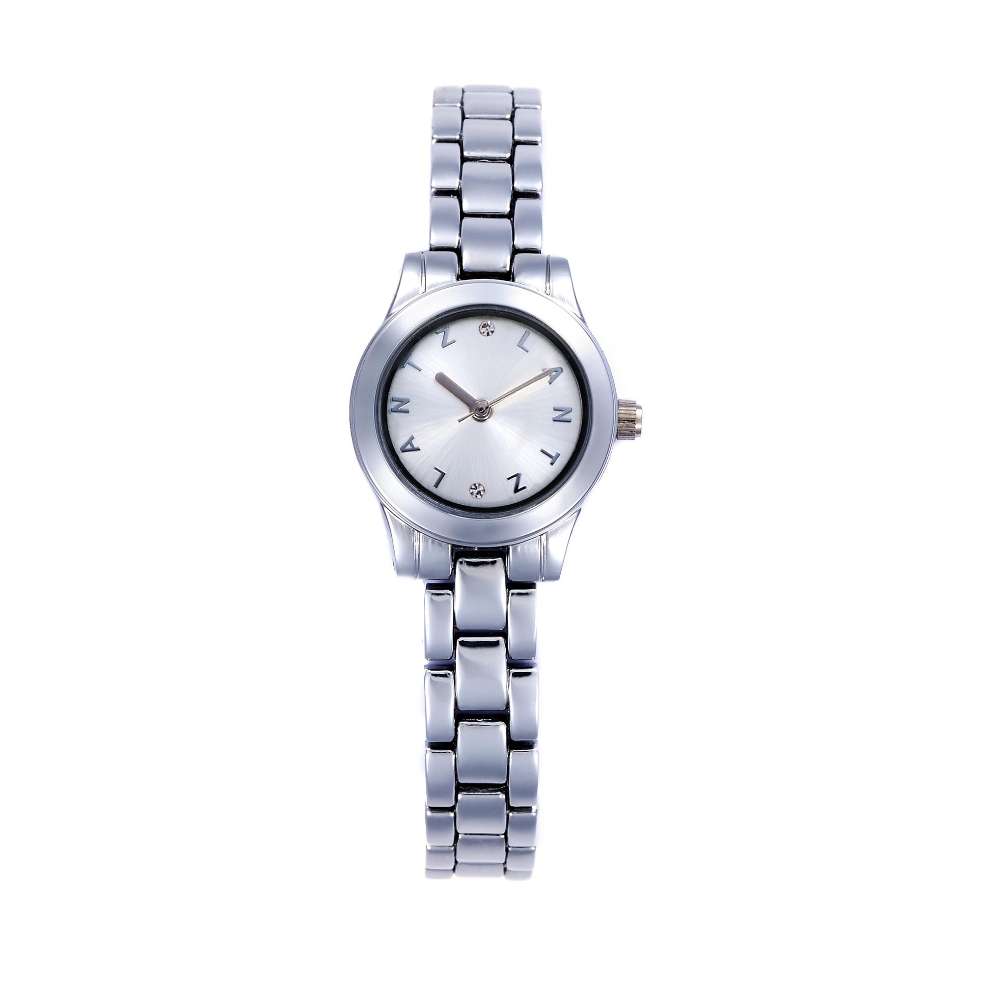 韩国原产LANTZ时尚腕表碳钢石英表女士手表 白色