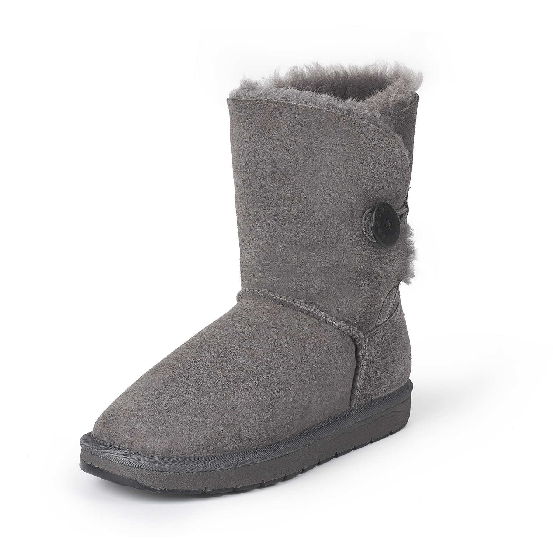 澳洲SHEARERS中筒单扣靴舒适保暖雪地靴 深灰 6码(38)