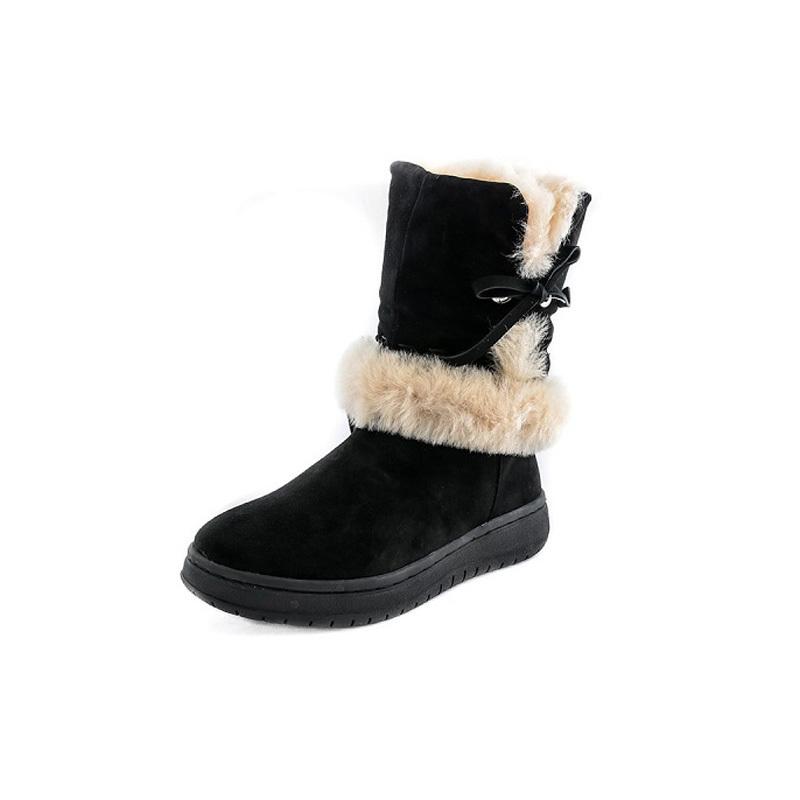 澳洲SHEARERS苏珊娜羊皮毛一体保暖雪地靴中筒靴 黑色 8码(40)