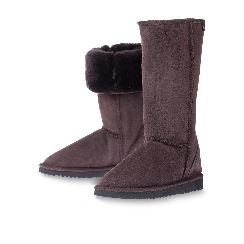 澳大利亚原产CHIC EMPIRE羊皮雪地靴长筒靴 深咖啡 6码