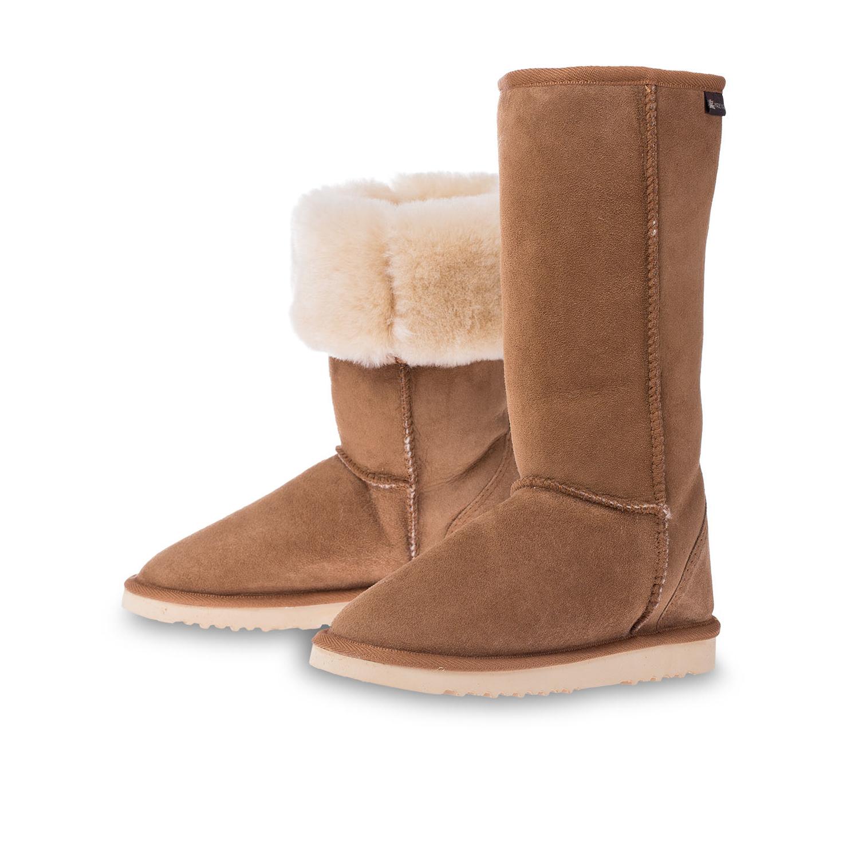 澳大利亚原产CHIC EMPIRE羊皮雪地靴长筒靴 栗色 6码
