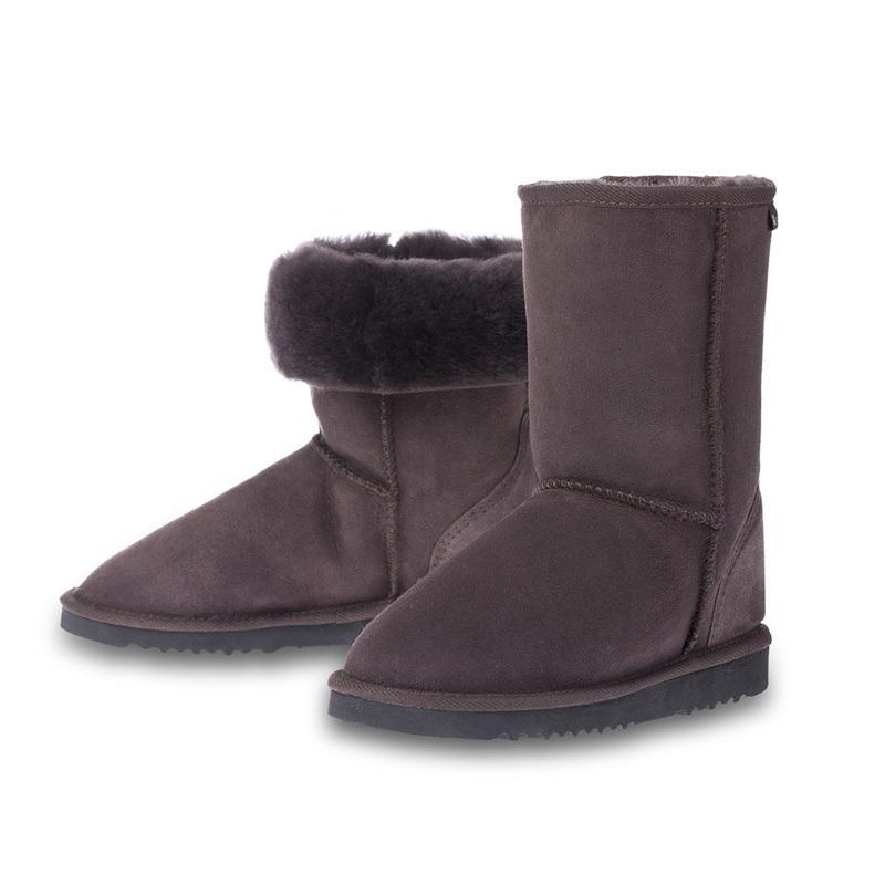 澳大利亚原产CHIC?EMPIRE羊皮雪地靴中筒靴 深咖啡 6码