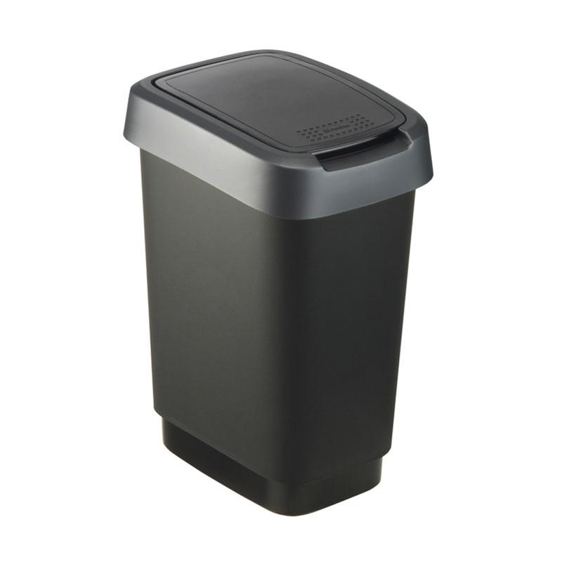 瑞士原产Rotho居家简约垃圾箱垃圾桶垃圾篓 银灰
