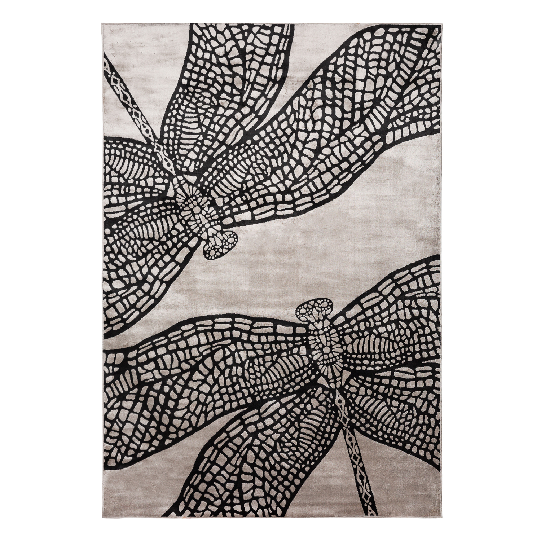 芬兰原产VALLILA LIBELLE系列地毯地垫 黑色