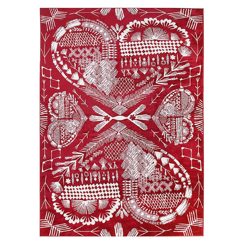 芬兰原产VALLILA HERTTA系列地毯地垫 红色