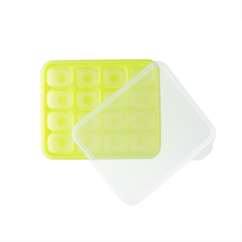 韩国原产BeBe乐硅胶婴儿辅食盒食物储存格冰箱储存盒小号 绿色