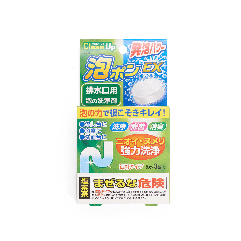 日本KOKUBO小久保排水槽口发泡清洁剂(3粒装) 白色