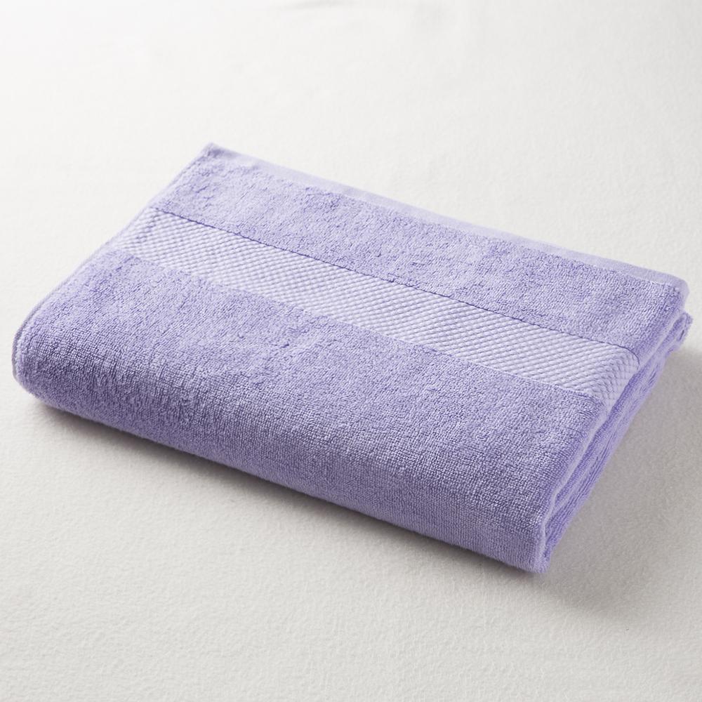 日本原产ORIM今治毛巾-Mayu系列超柔棉质加宽浴巾 蓝紫