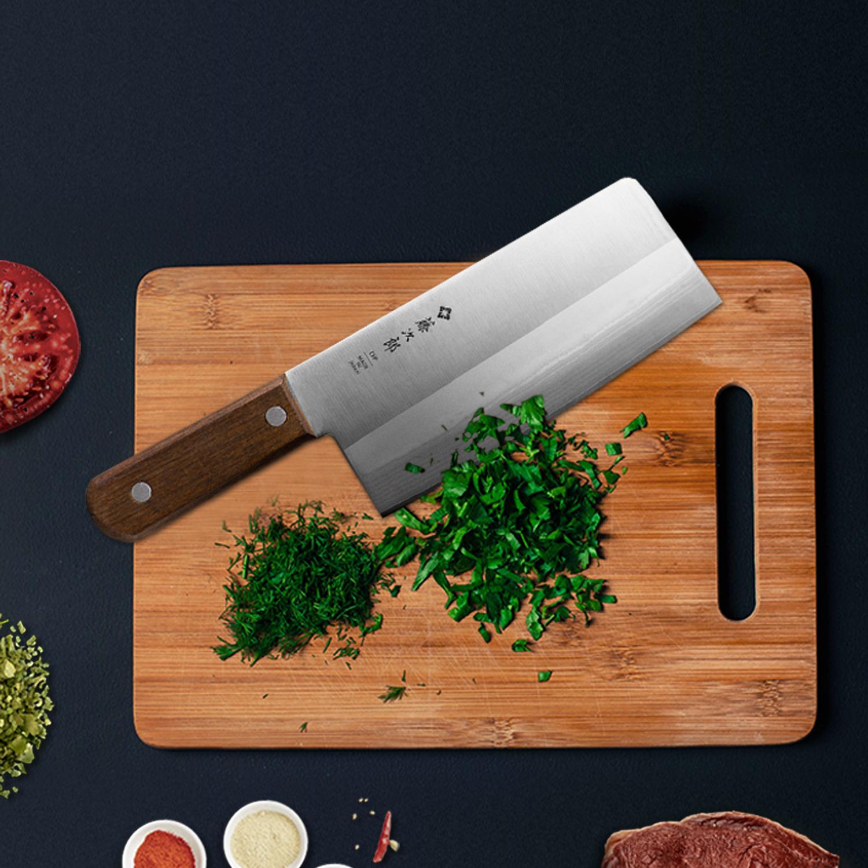 日本原产Tojiro藤次郎大马士革中华刀菜刀日本刀 F-991 褐色