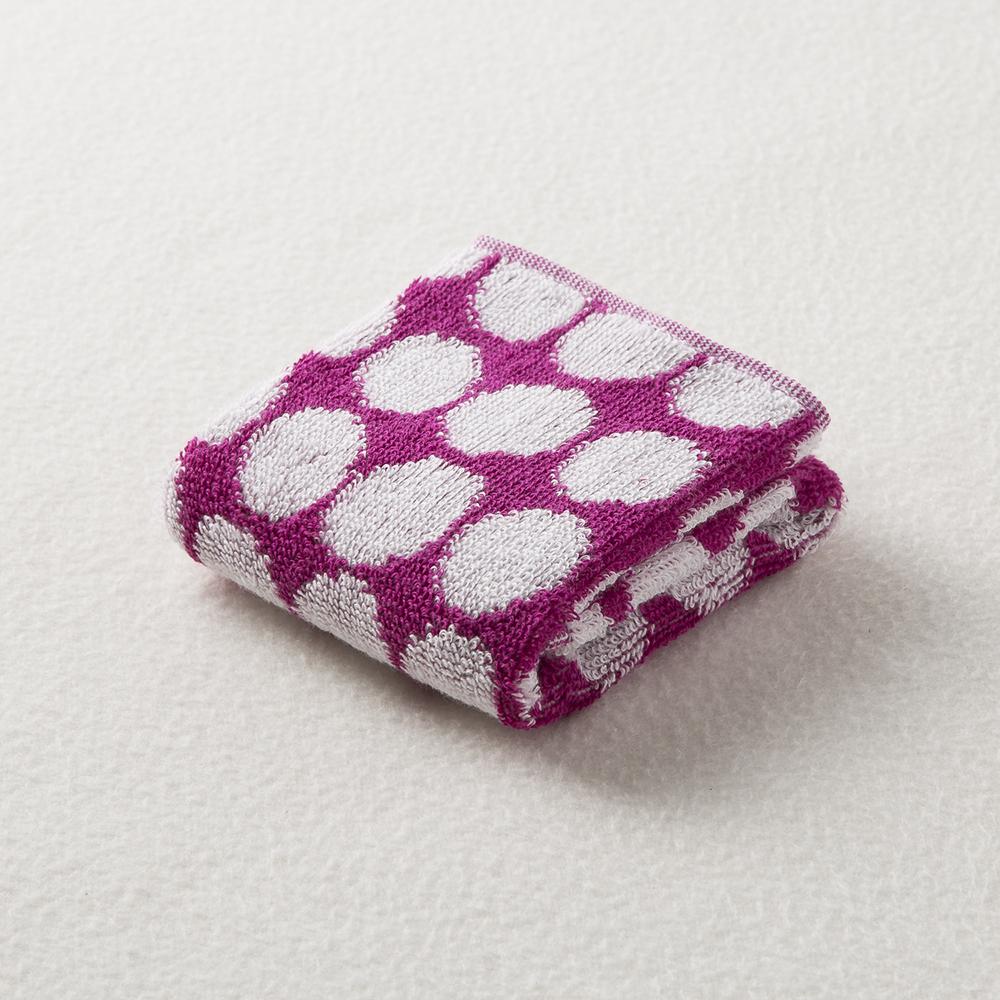 日本原产ORIM今治毛巾Bubble系列超柔棉质手巾擦手巾 紫红