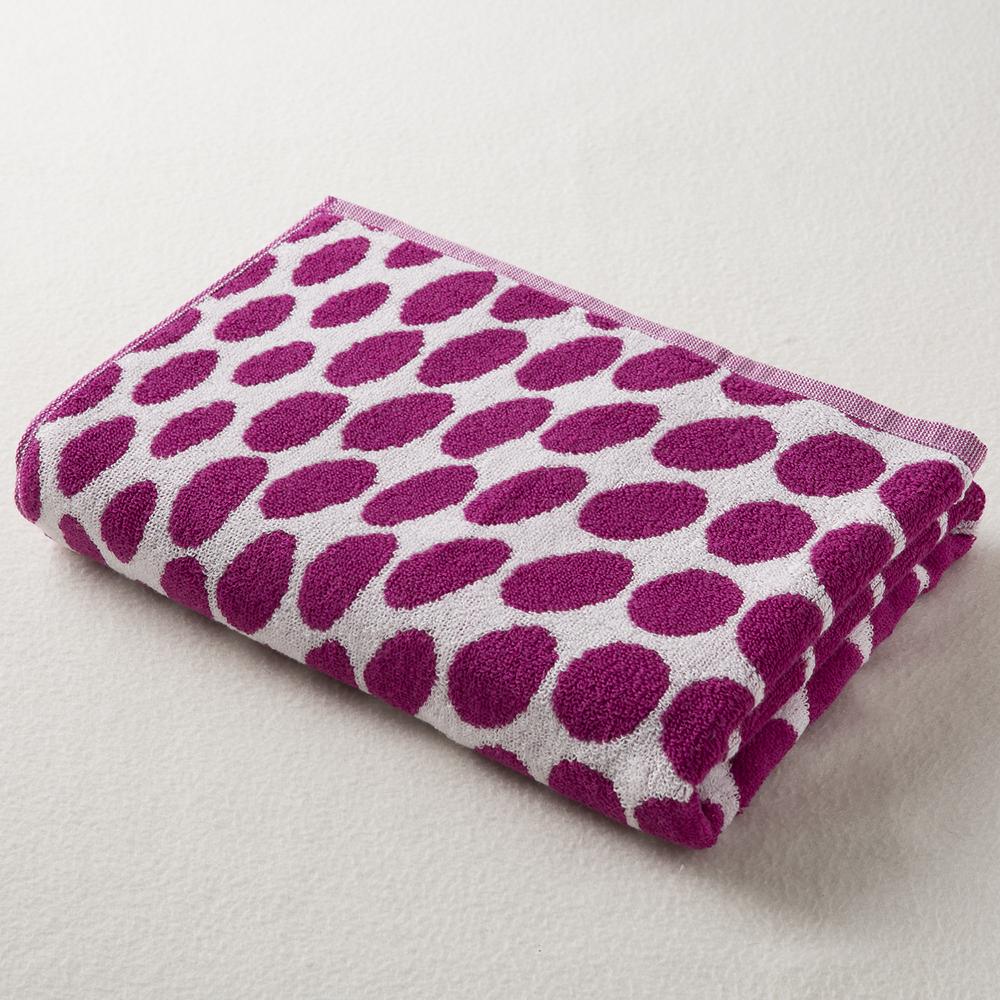 日本原产ORIM今治毛巾Bubble系列超柔棉质浴巾 紫红