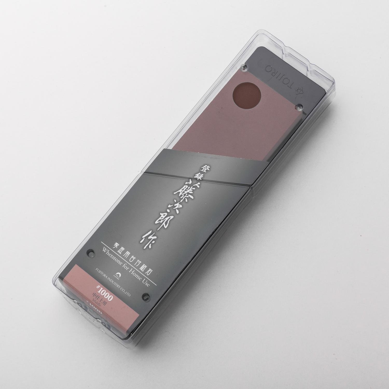 日本原产Tojiro藤次郎家用单面磨刀石砥石  #1000 F-431 红色