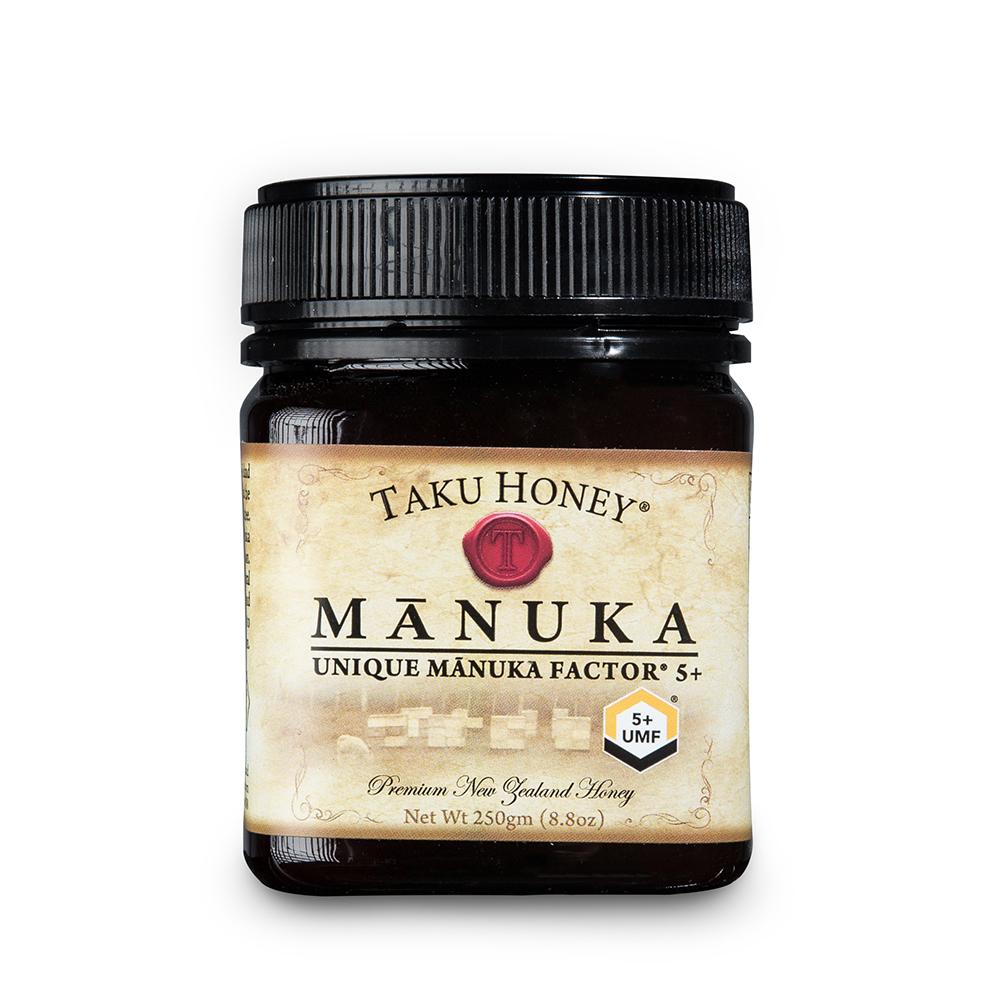 新西兰原产Taku塔库麦卢卡蜂蜜UMF5+250g养胃养颜 棕色 250g