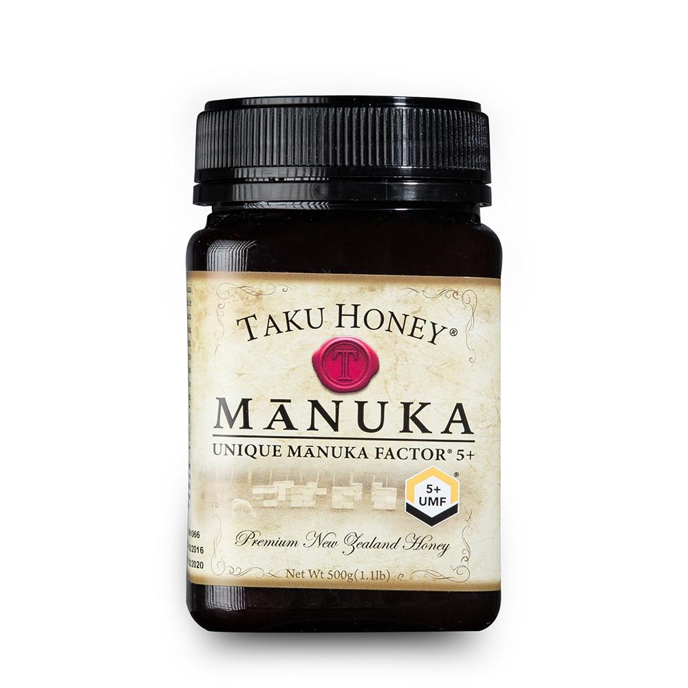 新西兰原产Taku塔库麦卢卡蜂蜜UMF5+500g养胃养颜 棕色 500g