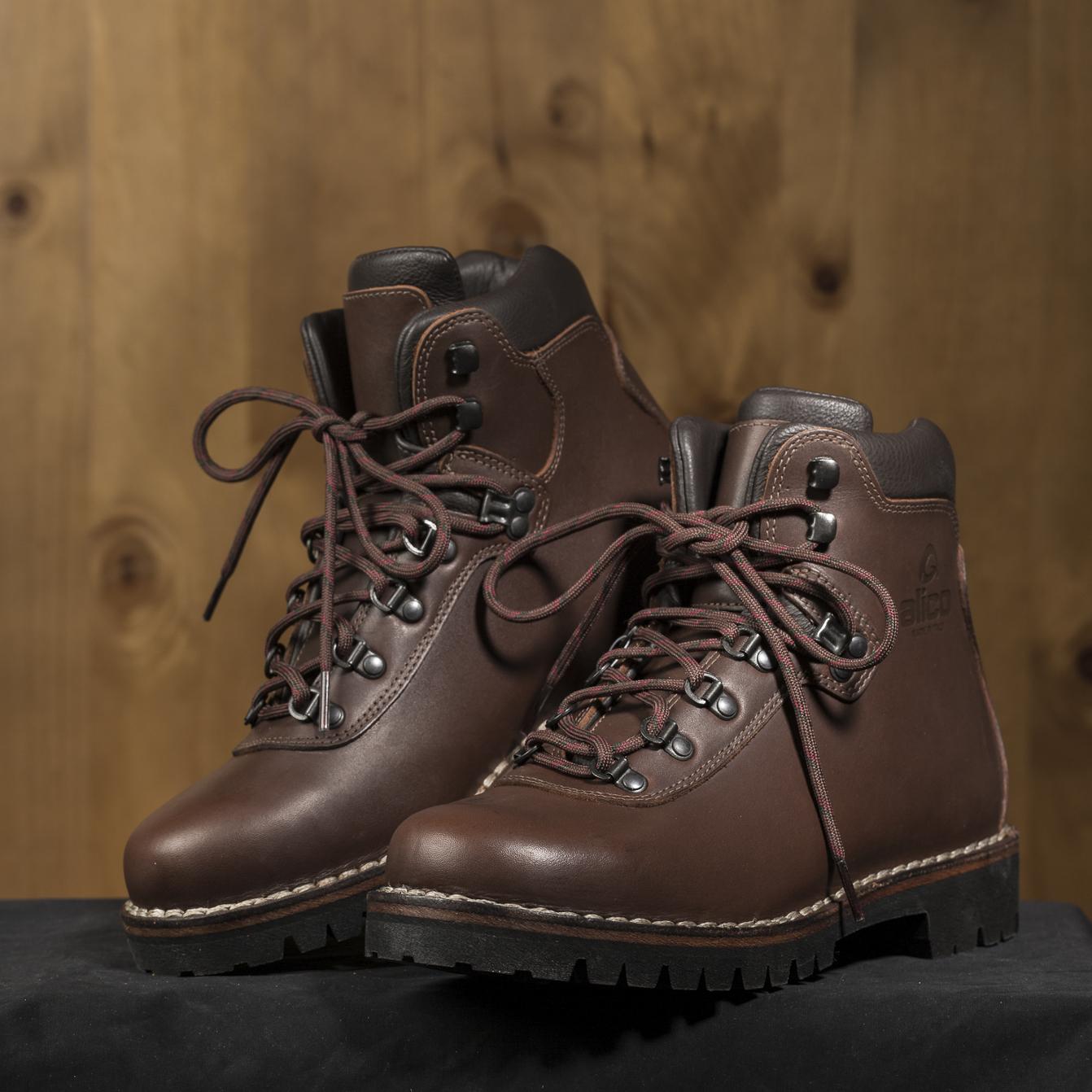 意大利Alico Summit系列专业防水徒步,登山鞋(标准版) 深棕色 41