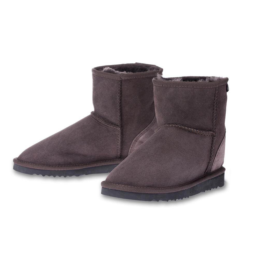 澳大利亚原产CHIC EMPIRE羊皮雪地靴短筒靴 深咖啡 39