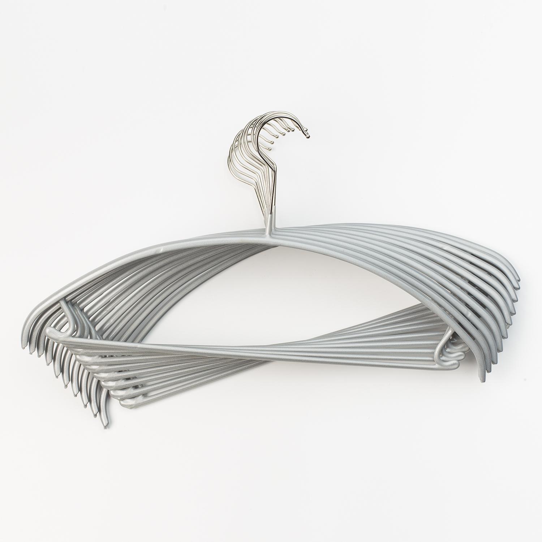 德国原产MAWA不锈钢圆形衣架衣服架衣撑子 10个装 银色