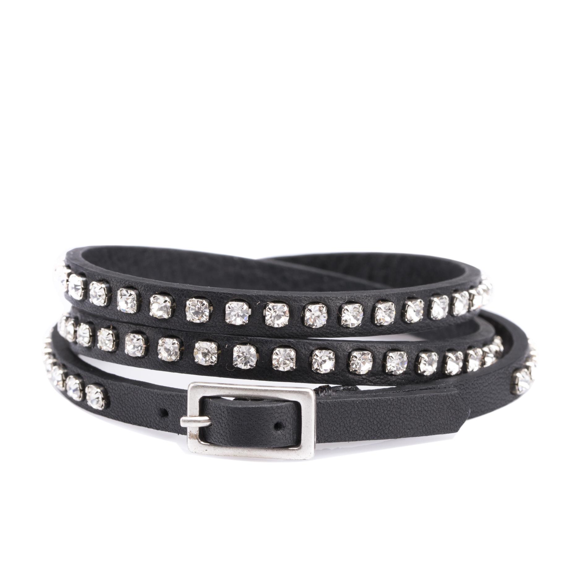 意大利原产Martinica多圈环绕牛皮手环时尚手环5261-PMT 黑色
