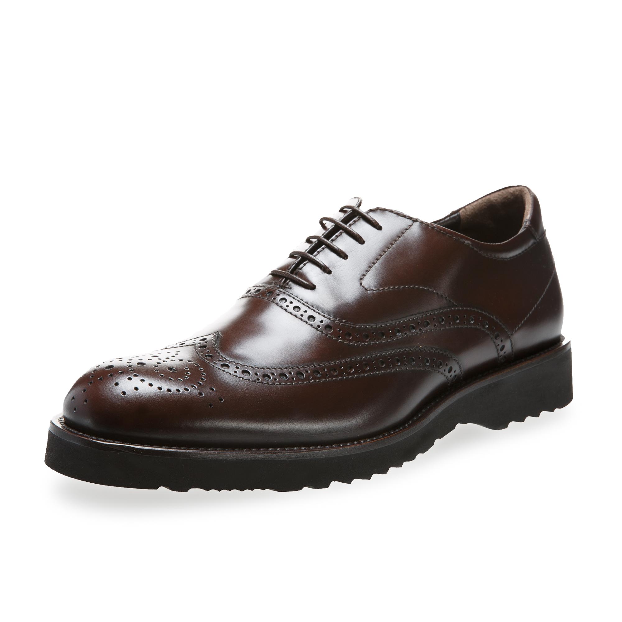 意大利原产germano bellesi系带花纹圆头牛皮鞋男皮鞋445 深棕色 41