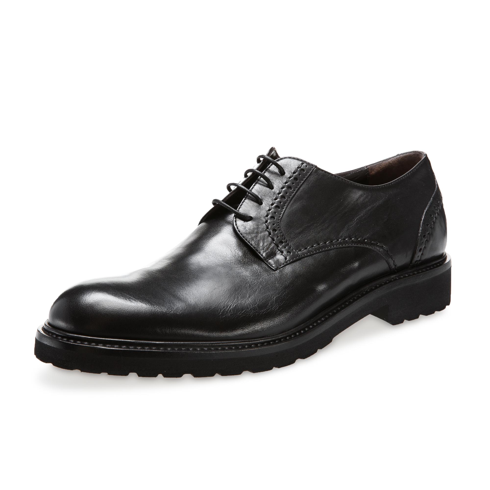 意大利原产germano bellesi圆头牛皮鞋男士皮鞋700 黑色 41