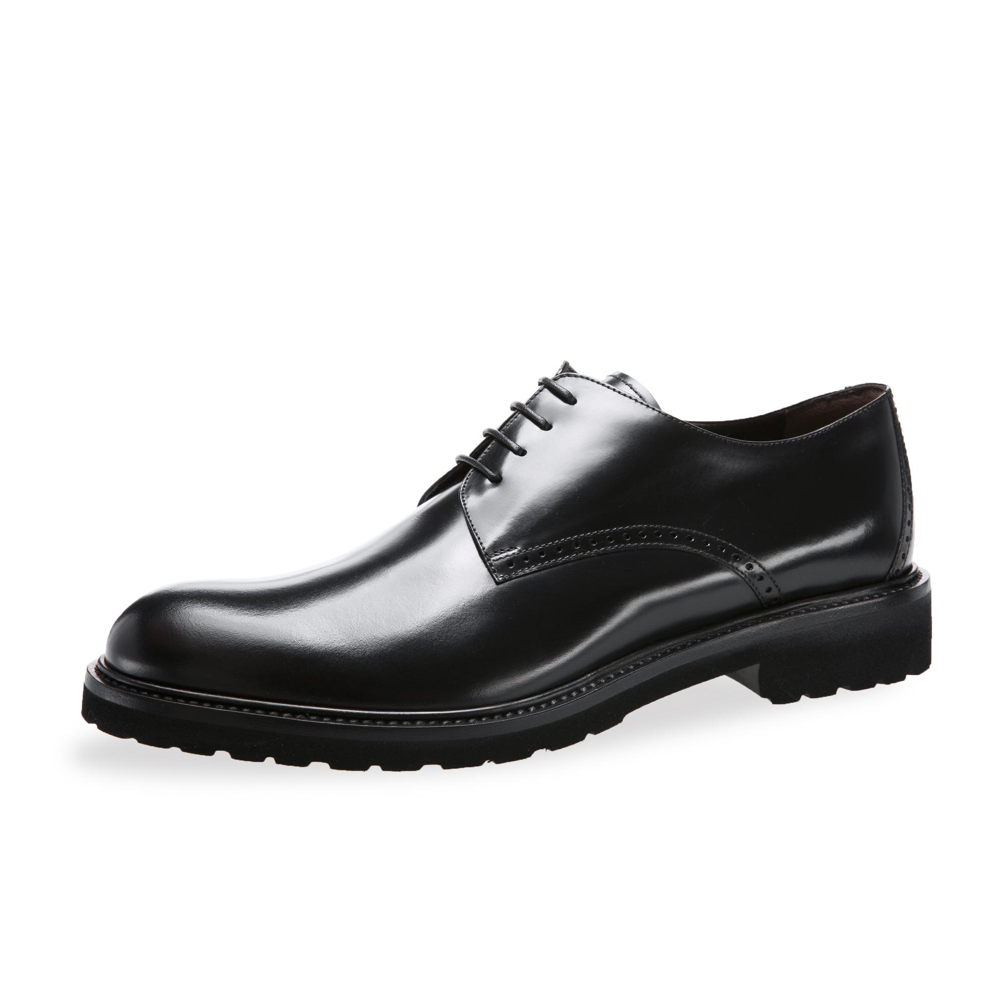 意大利原产germano bellesi圆头牛皮鞋男士皮鞋708 黑色 41