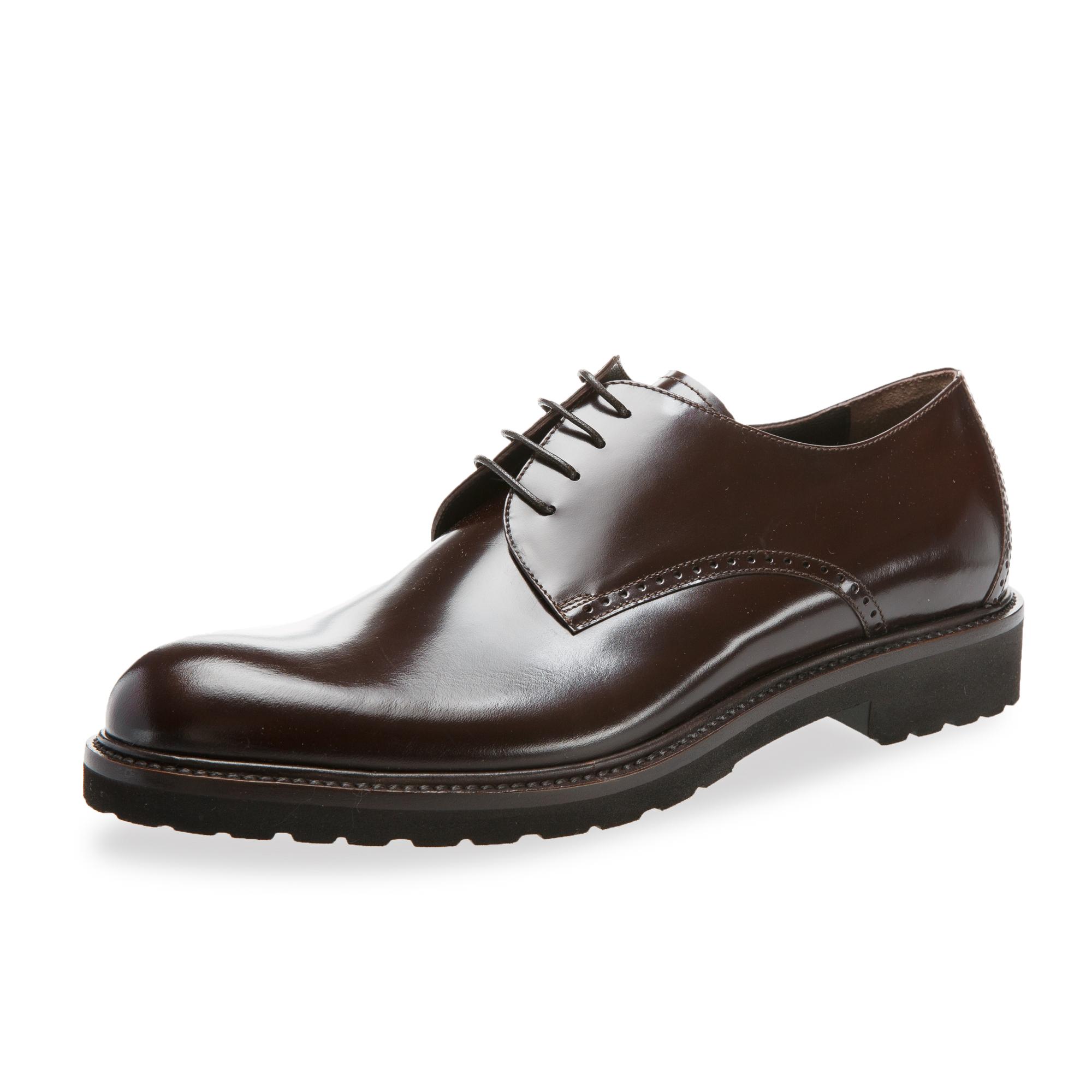 意大利原产germano bellesi圆头牛皮鞋男士皮鞋708 深棕色 41