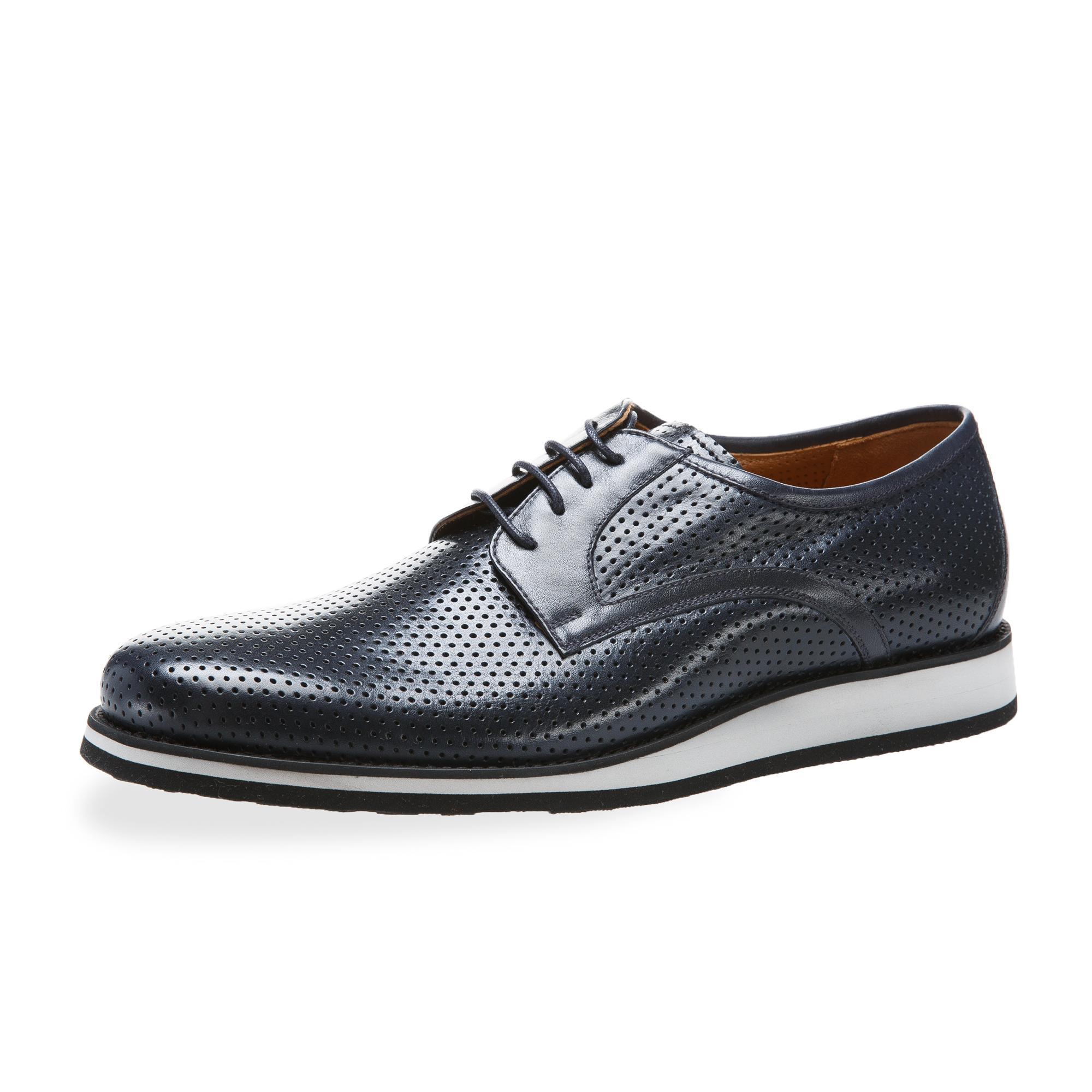 意大利原产germano bellesi镂空男鞋男士皮鞋943 深蓝 39