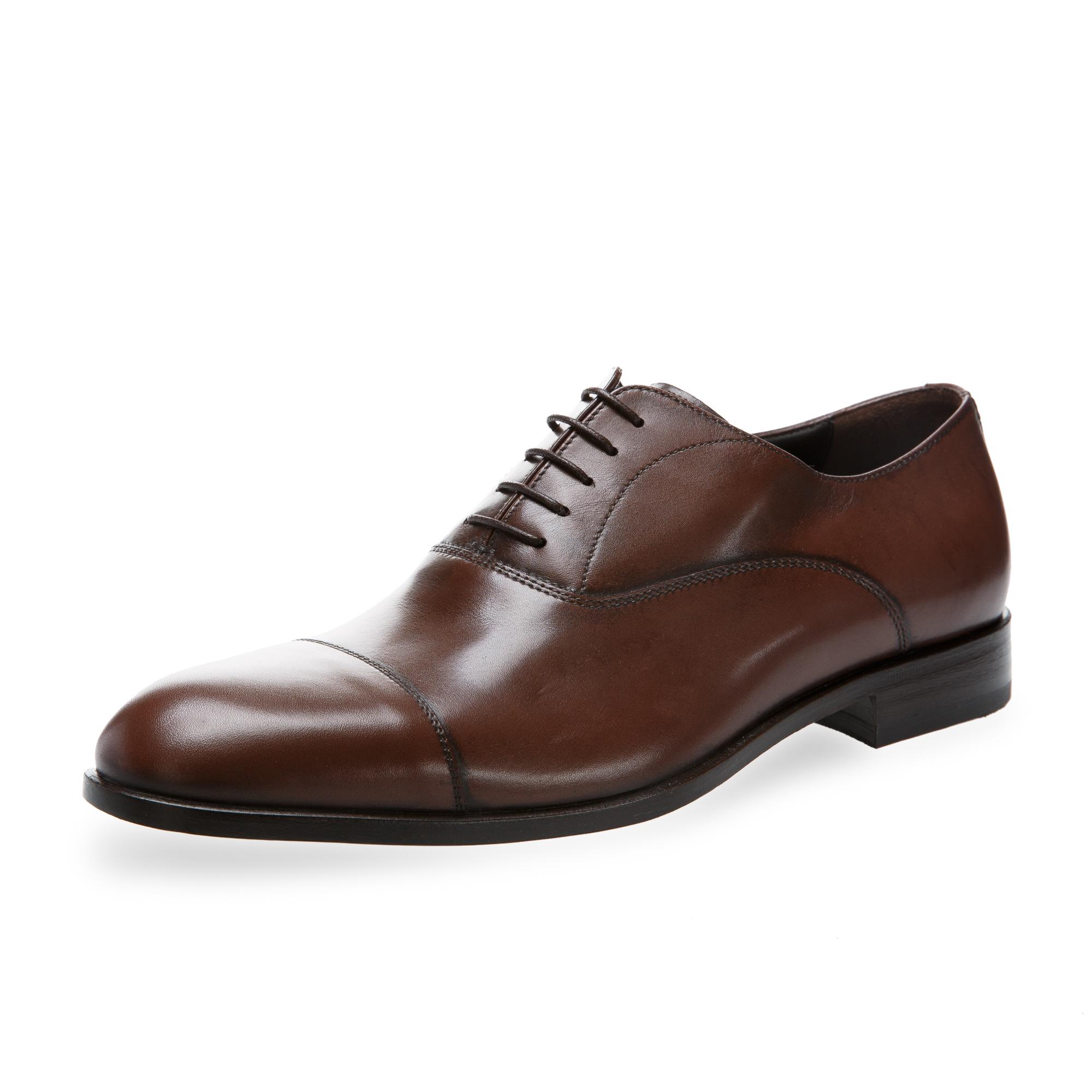 意大利原产germano bellesi系带浅口皮鞋男士皮鞋764 深棕色 39