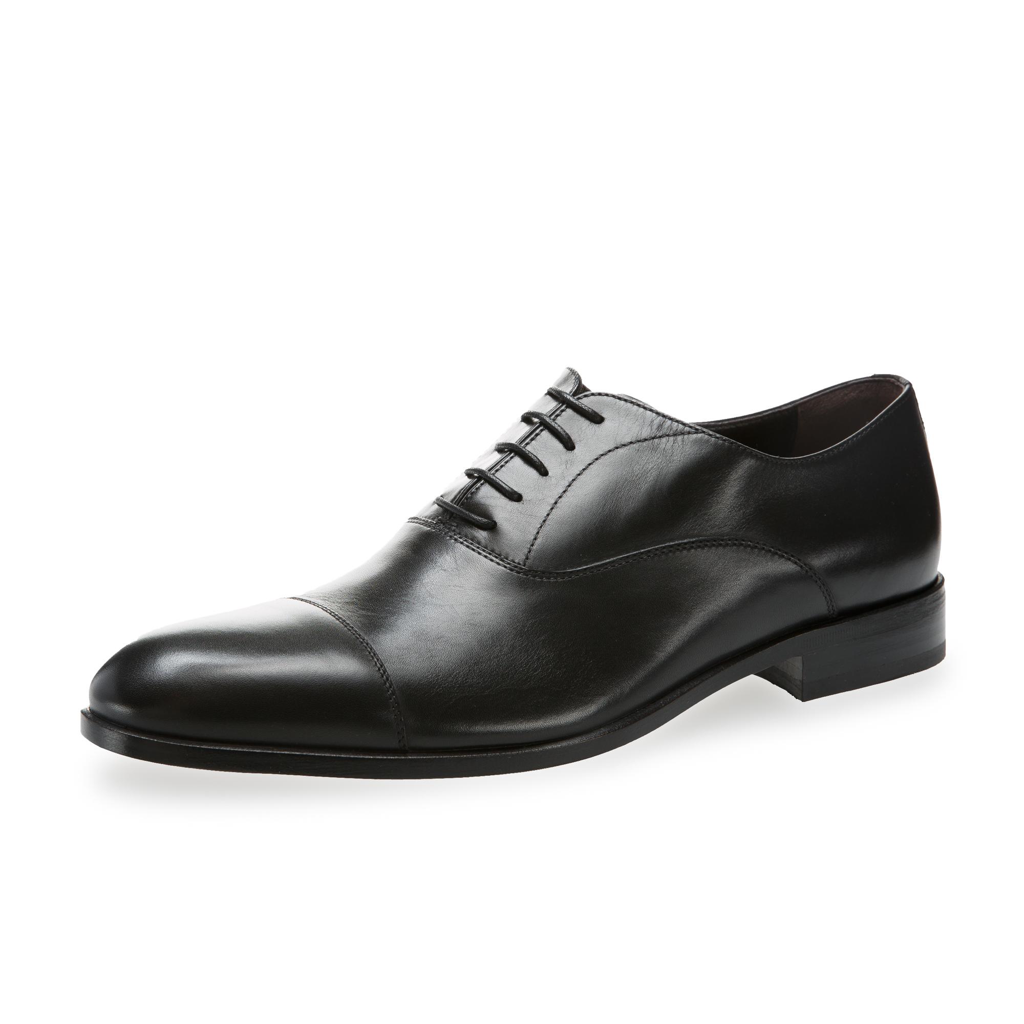 意大利原产germano bellesi系带浅口皮鞋男士皮鞋764 黑色 43