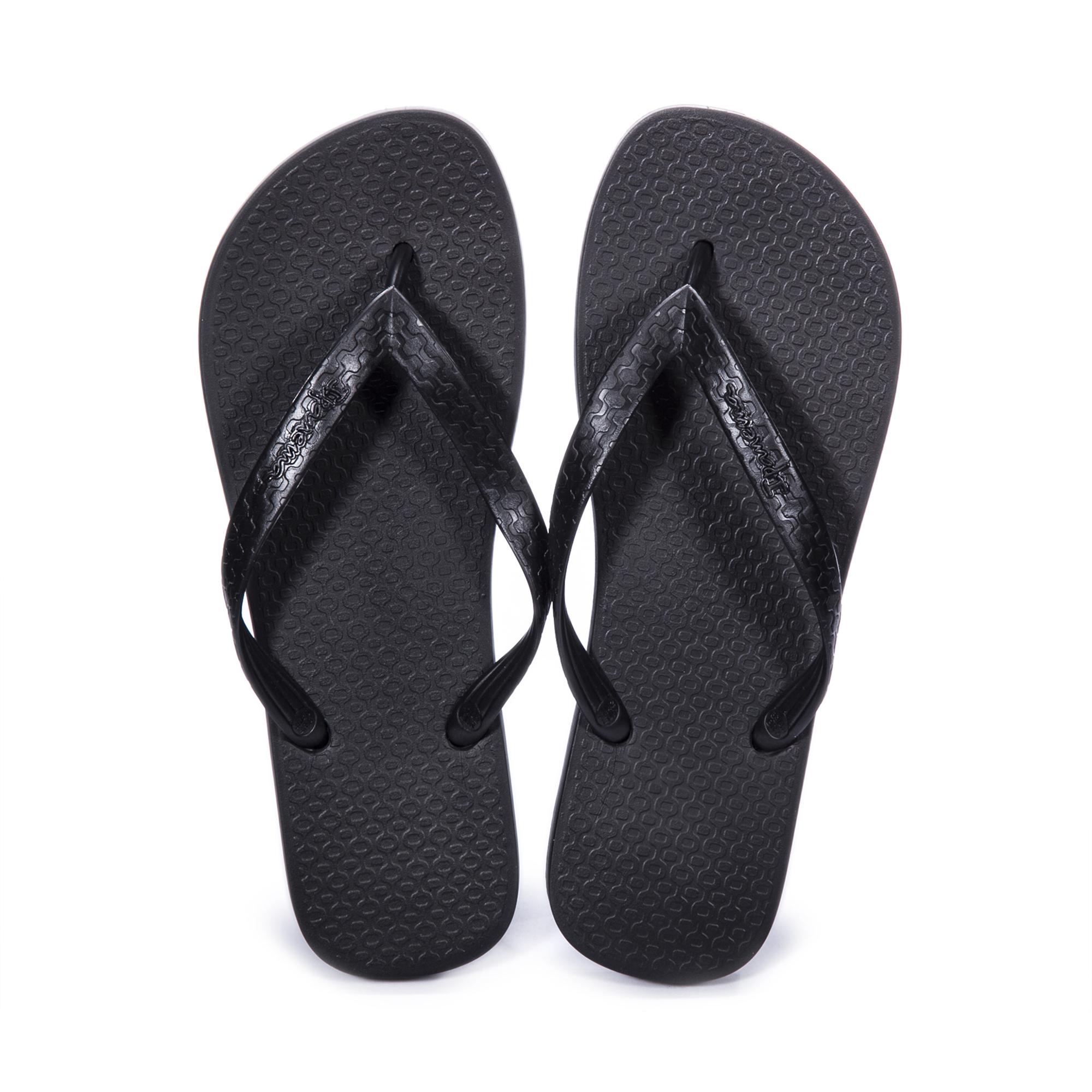 巴西原产IPANEMA纯色男士人字拖 男士拖鞋 男款凉拖 黑色 41/42 建议选大一码