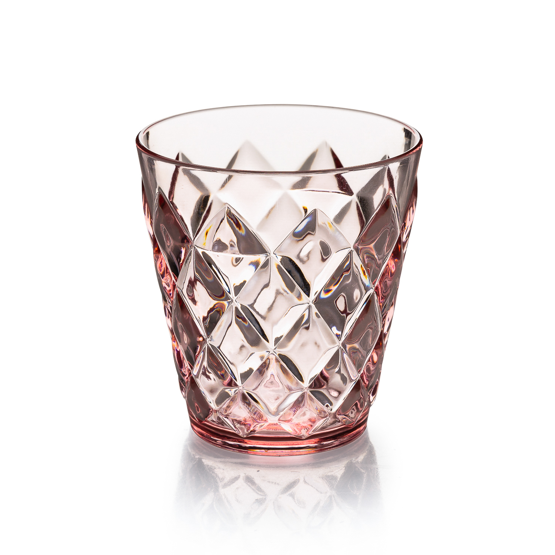 德国Koziol时尚晚宴冰裂杯水杯200ml 浅粉色