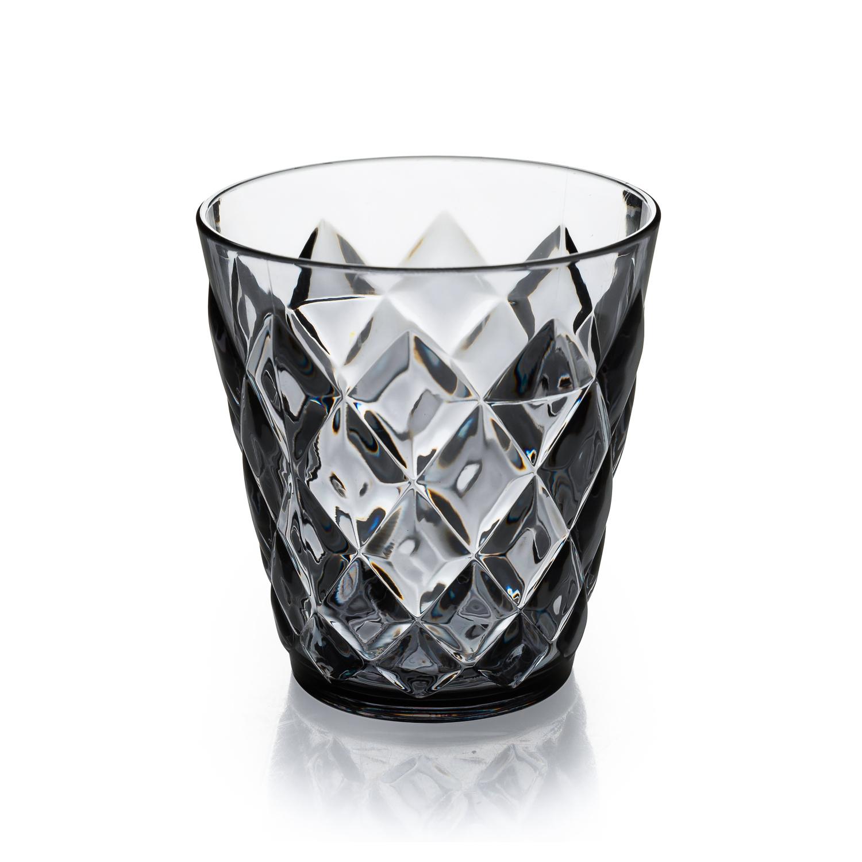 德国Koziol时尚晚宴冰裂杯水杯200ml 深灰