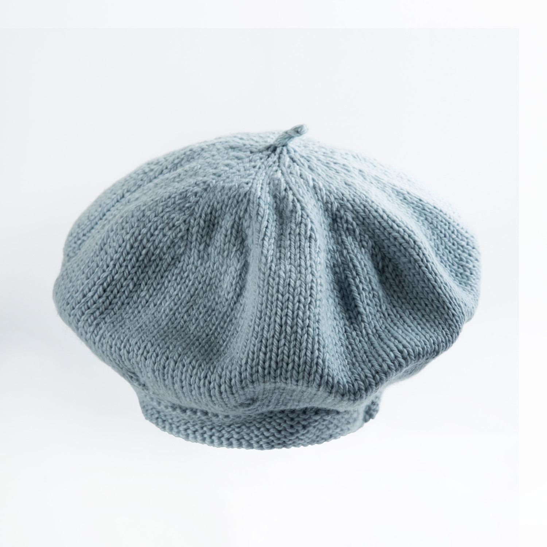 新西兰原产weebits贝雷帽婴儿帽子宝宝帽子 灰蓝 L