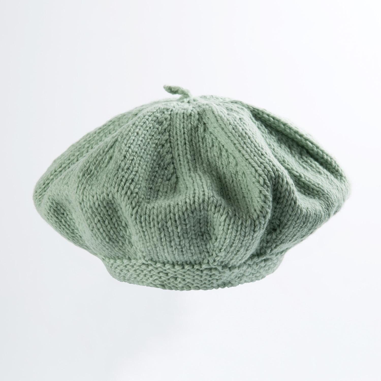 新西兰原产weebits贝雷帽婴儿帽子宝宝帽子 黄绿 L