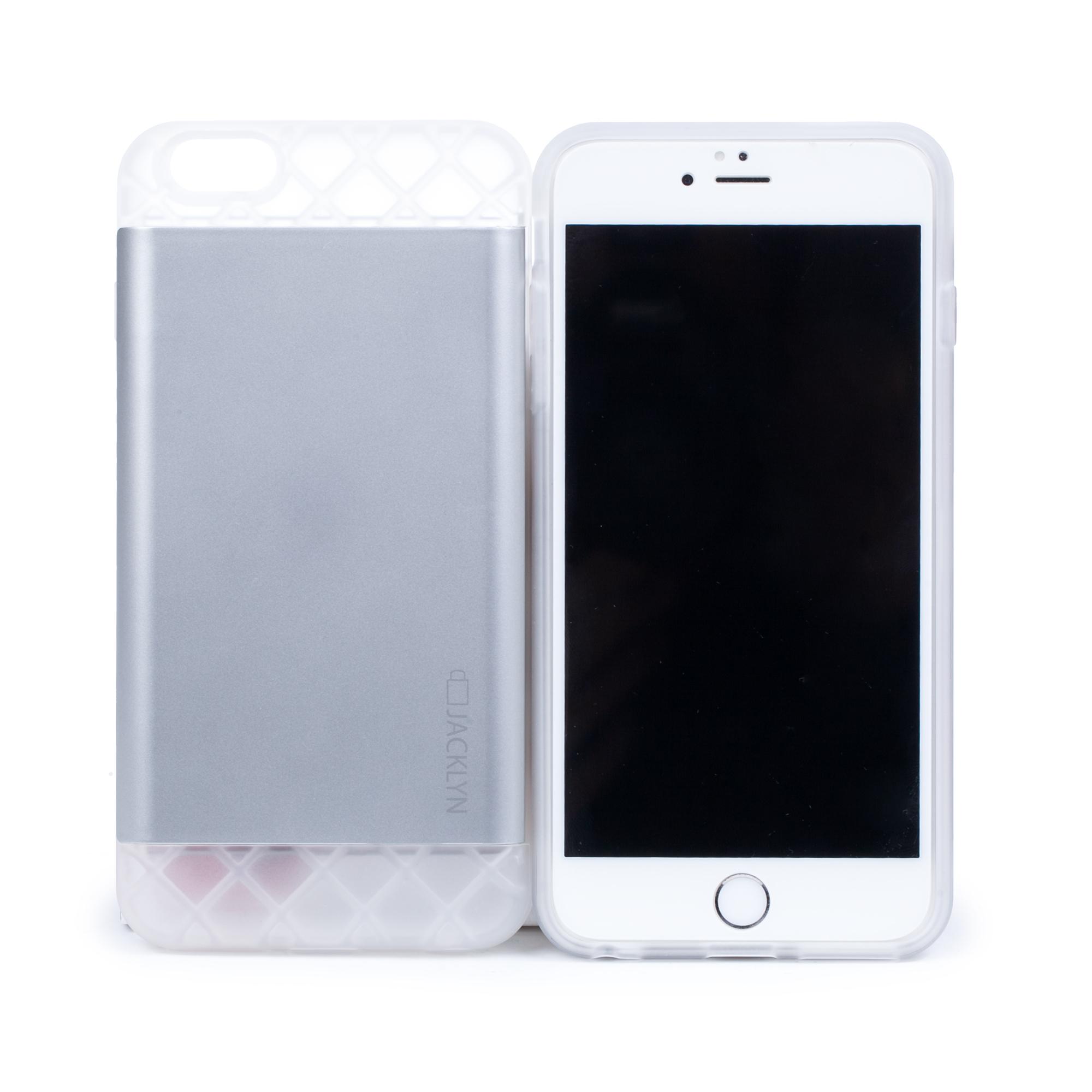 韩国原产JACKLYN苹果6plus手机壳apple手机套 防水耐高温 哑光银色
