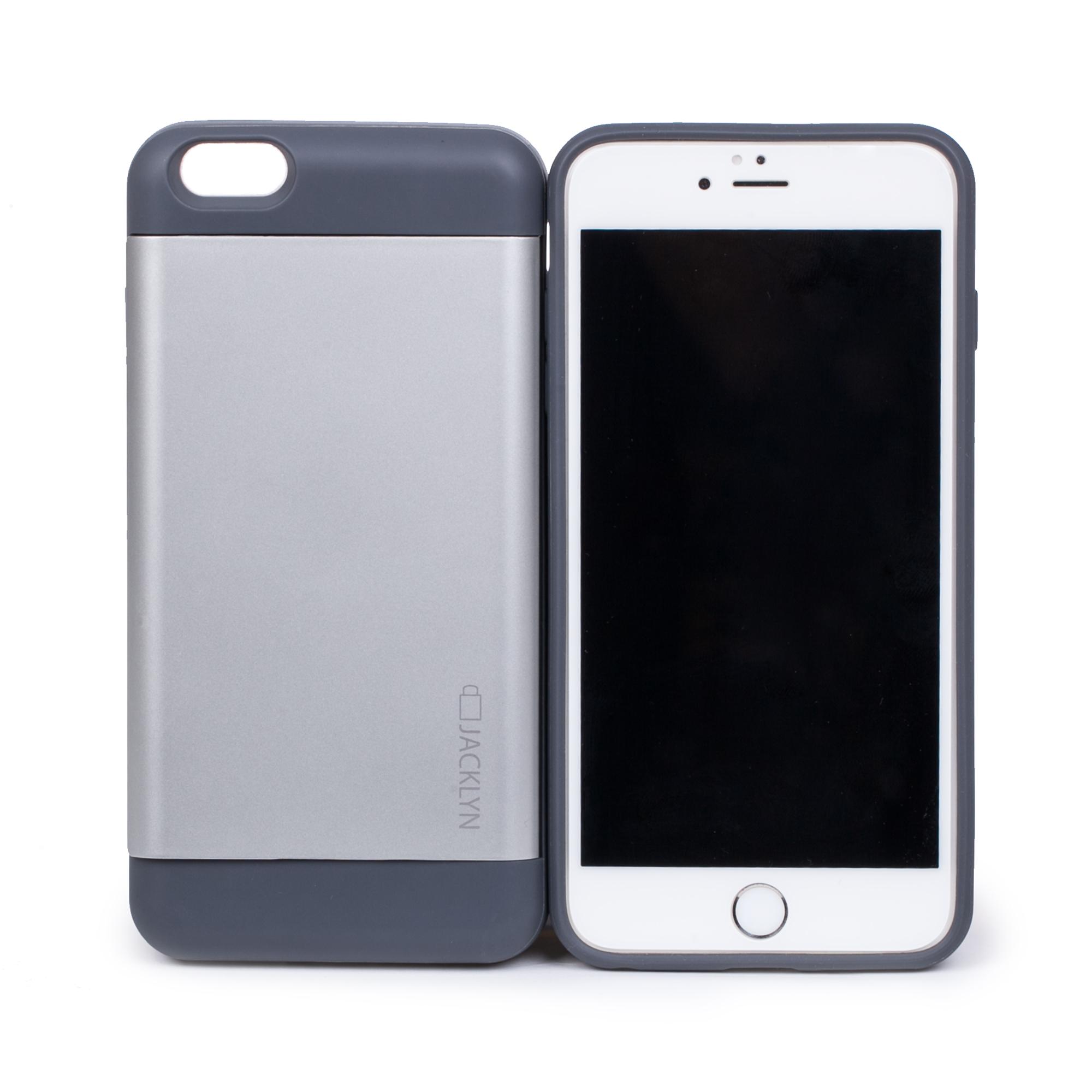 韩国原产JACKLYN苹果6plus手机壳apple手机套 防水耐高温 灰色