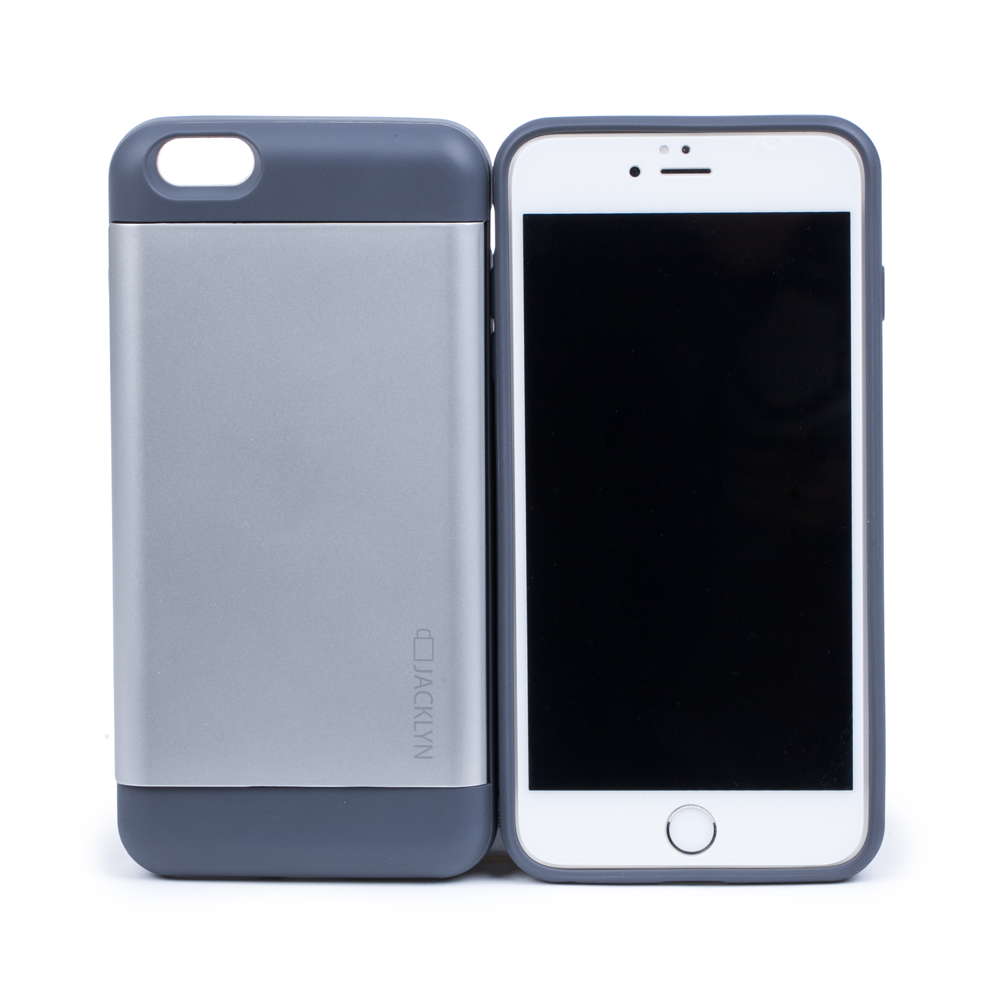 韩国原产JACKLYN苹果6plus手机壳apple手机套 防水耐高温 银色