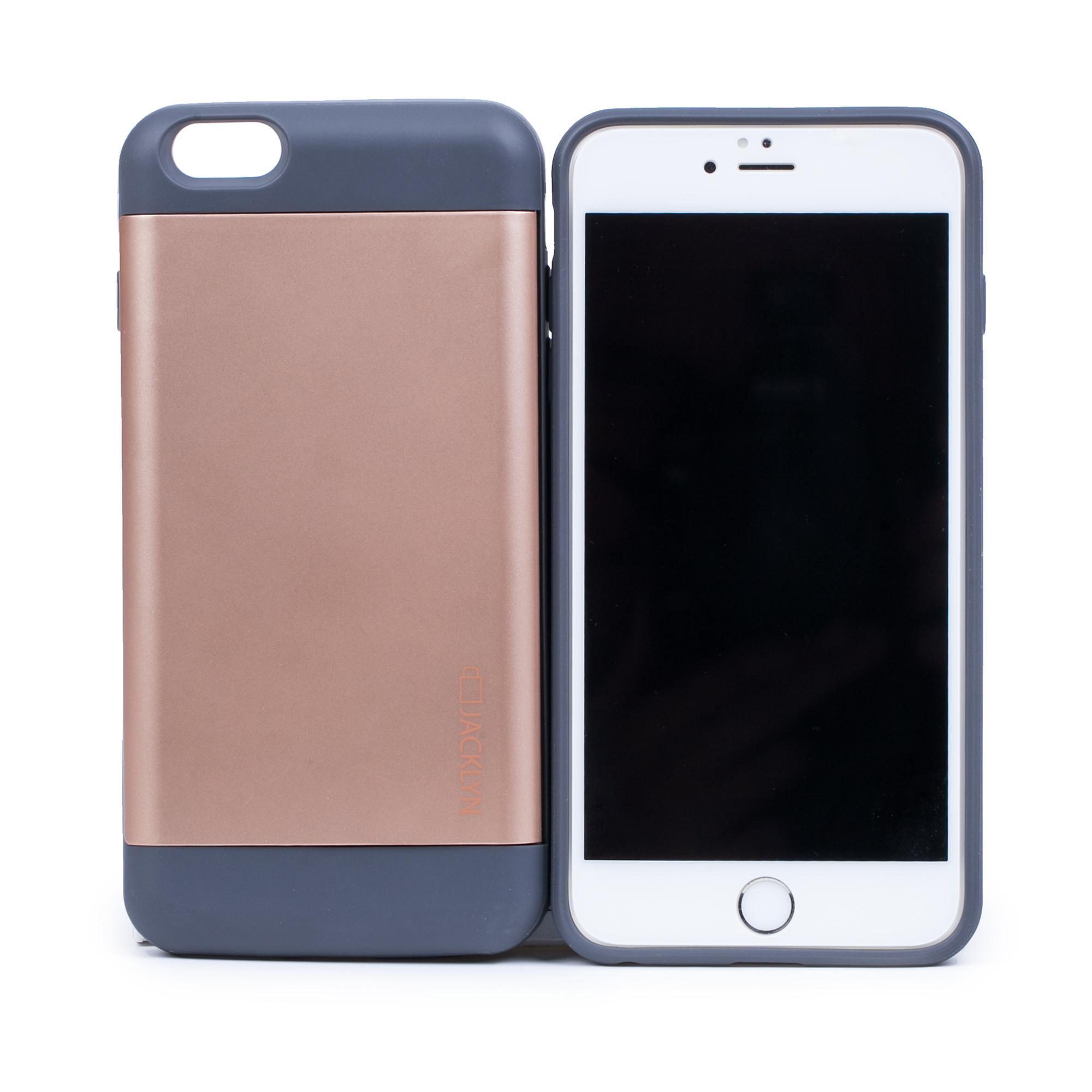 韩国原产JACKLYN苹果6plus手机壳apple手机套 防水耐高温 金色