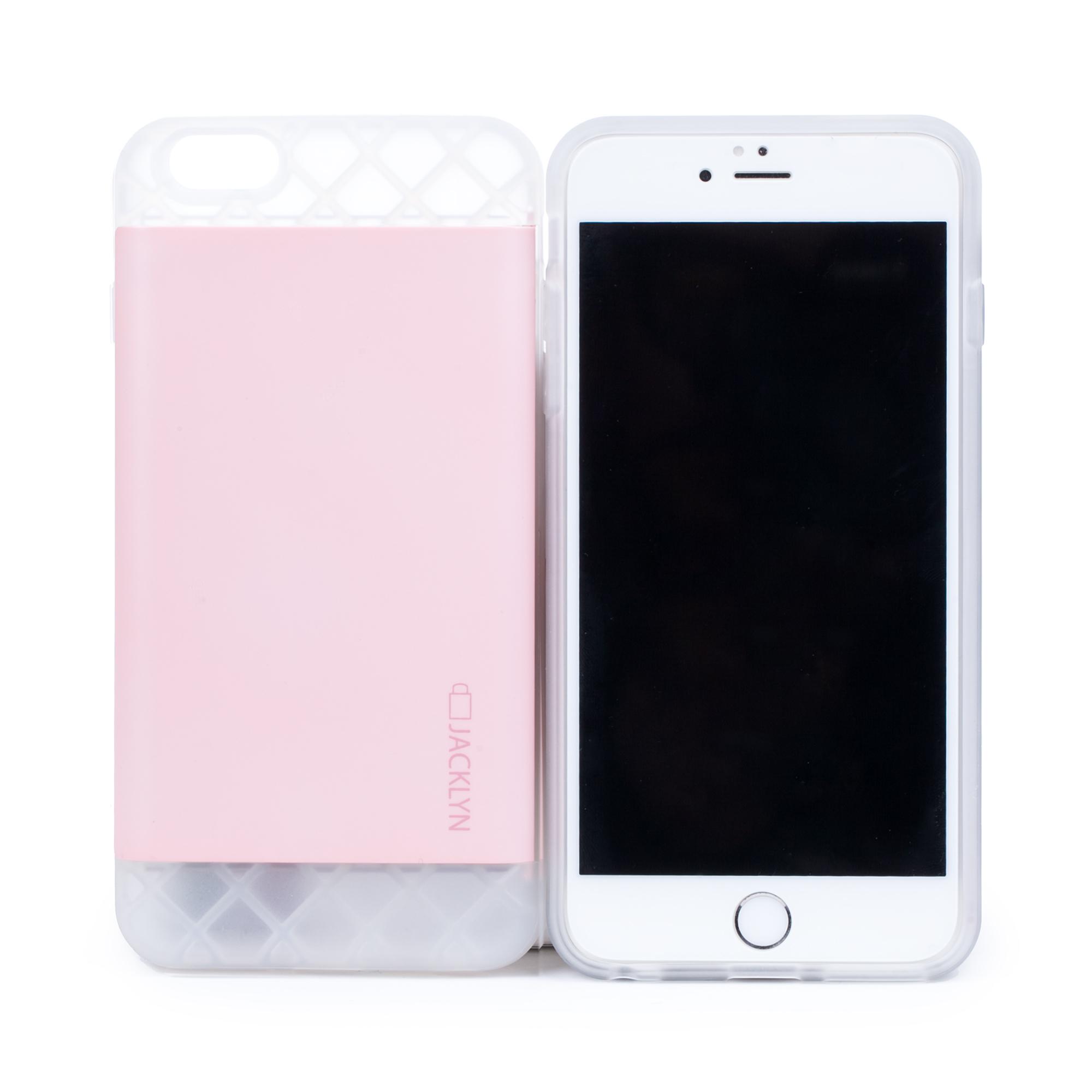 韩国原产JACKLYN苹果6plus手机壳apple手机套 防水耐高温 哑光粉色