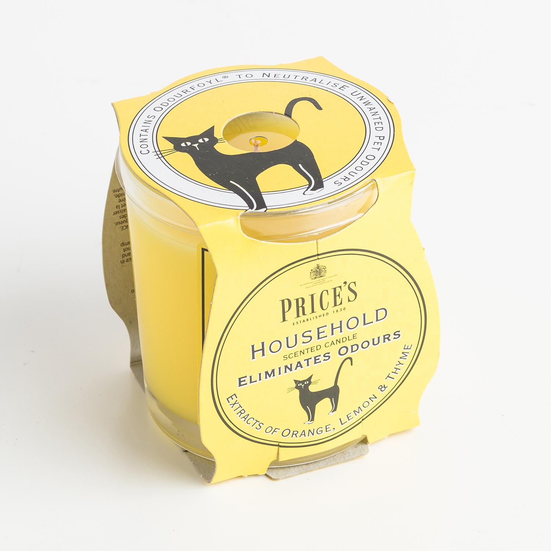 英国原产Price's玻璃香薰蜡烛香氛烛台雅居 柳橙丁香味