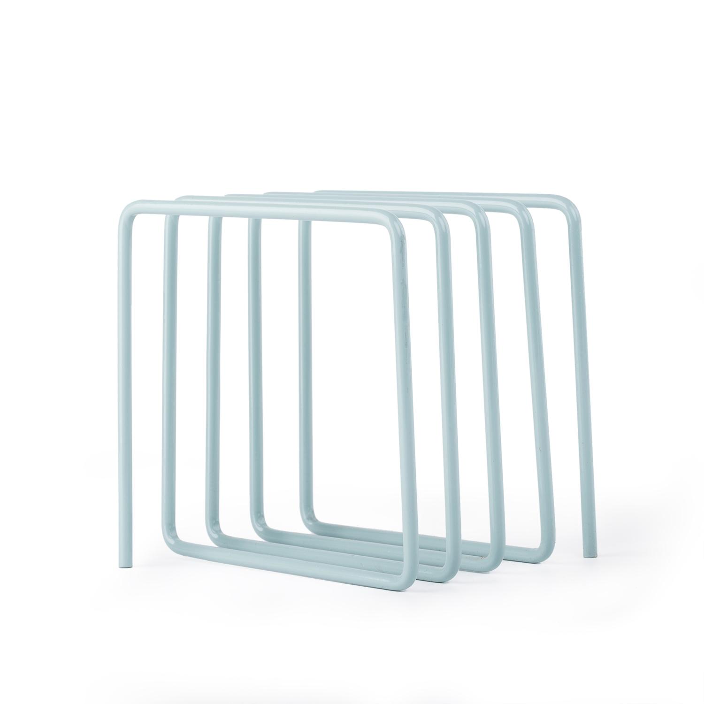 英国原产block杂志架 粉末涂层钢板 蓝色