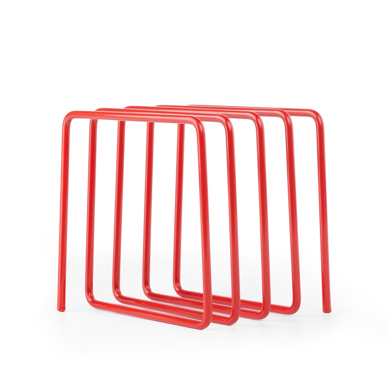 英国原产block创意杂志架书架 红色